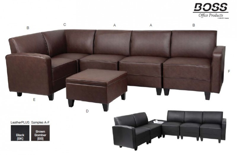 Boss Office Products Sectional Sofa Series And Reception Seating Office Resource Group