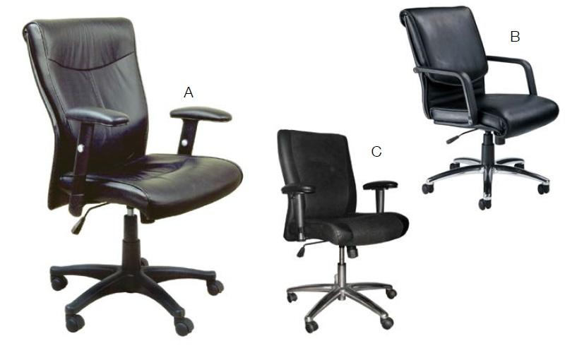 Mayline High Back Amp Mid Back Executive Leather Seating