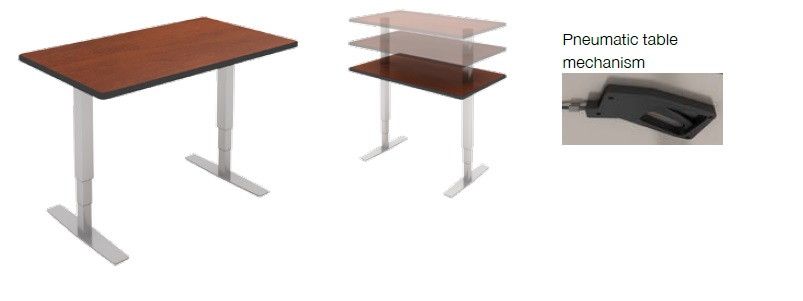 Special T Levitate Series Training Adjustable Height Tables