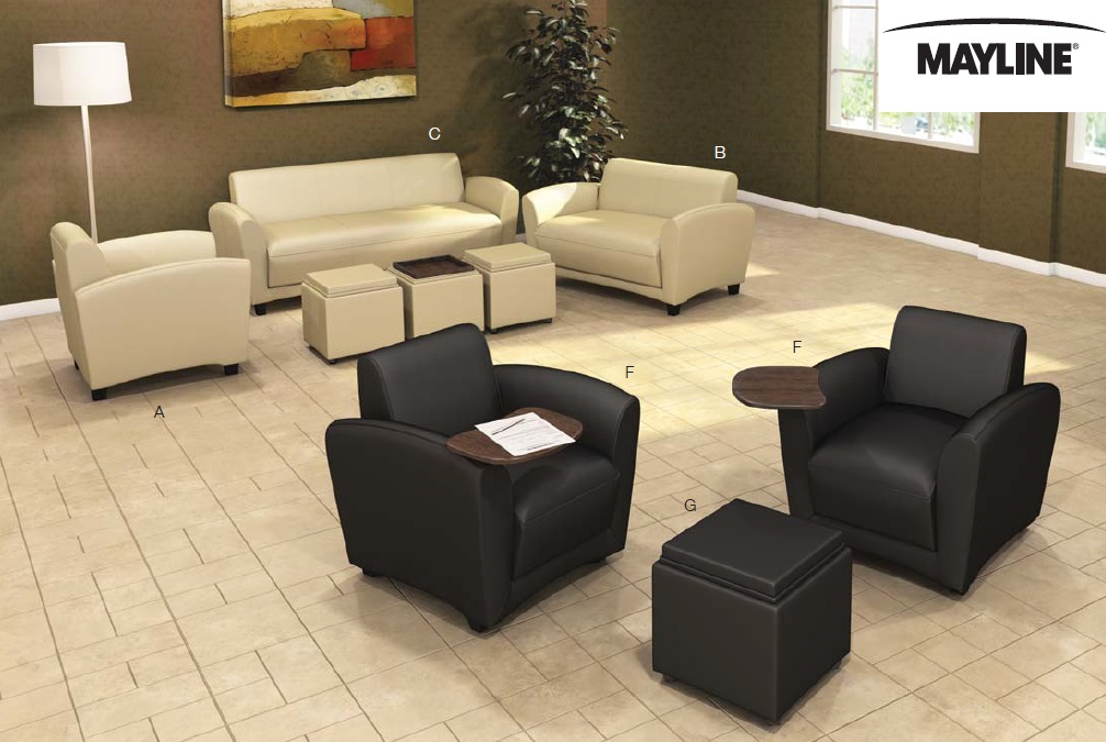 Fantastic Mayline Santa Cruz Series Lounge Furniture And Mobile Lounge Dailytribune Chair Design For Home Dailytribuneorg