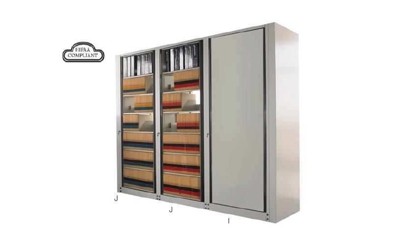 Mayline Arc Rotary File Cabinet Hipaa Compliant Office