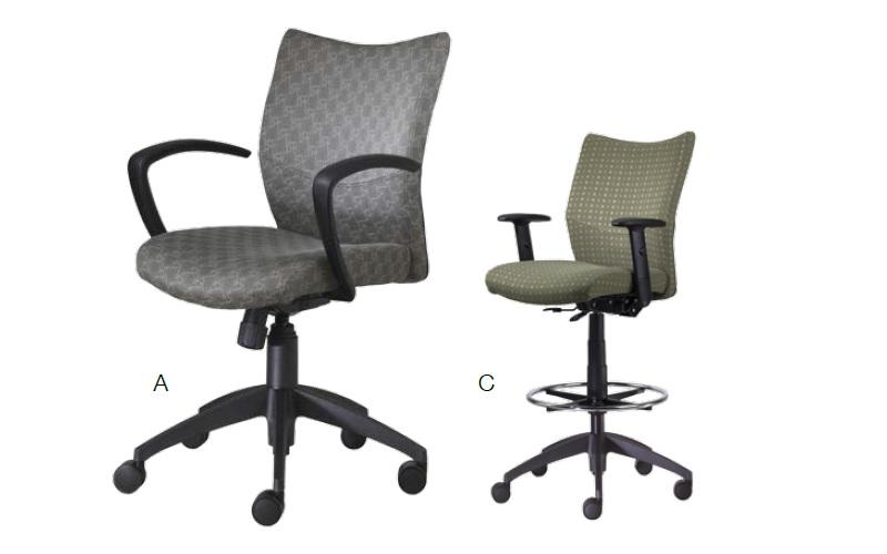 9to5 seating bristol agent precept and logic series ergonomic
