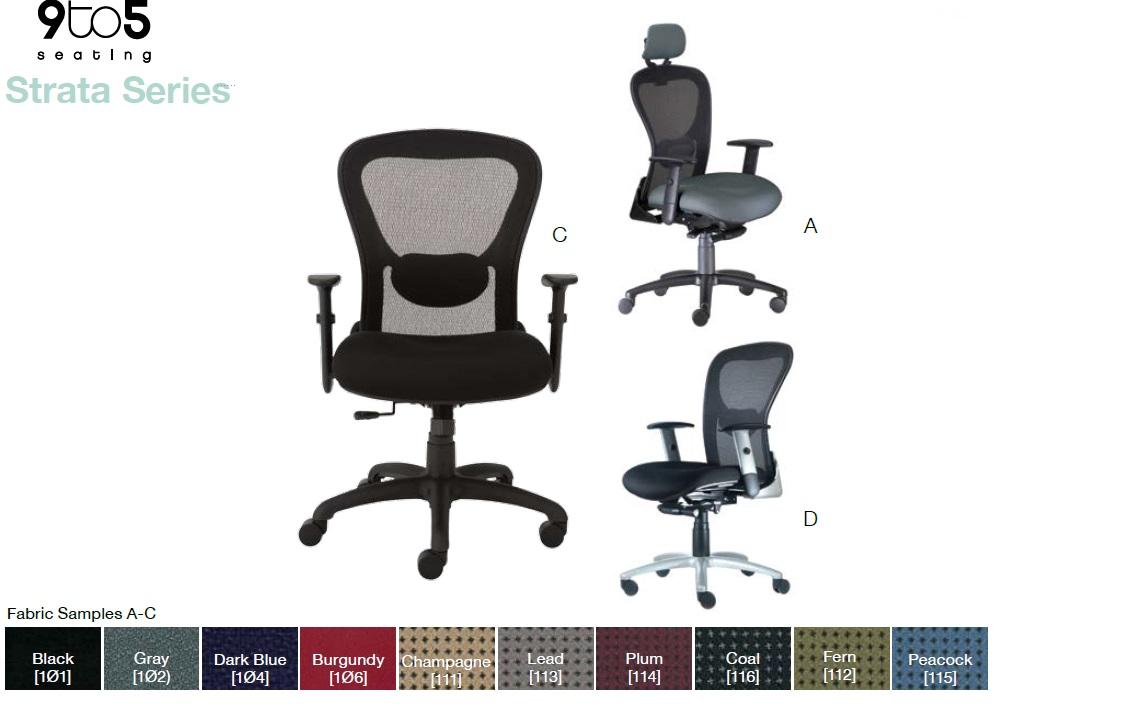 9to5 seating strata series ergonomic seating office resource group