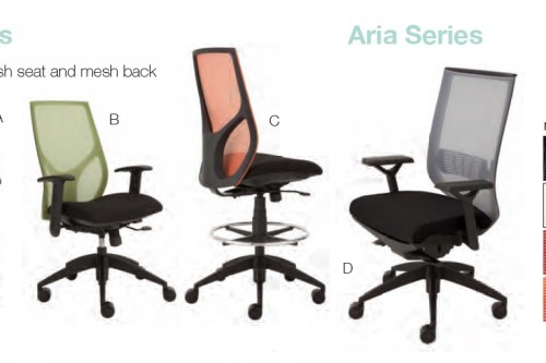 9to5 Seating Vault, Aria And Cydia Series Mesh Back Task Chairs