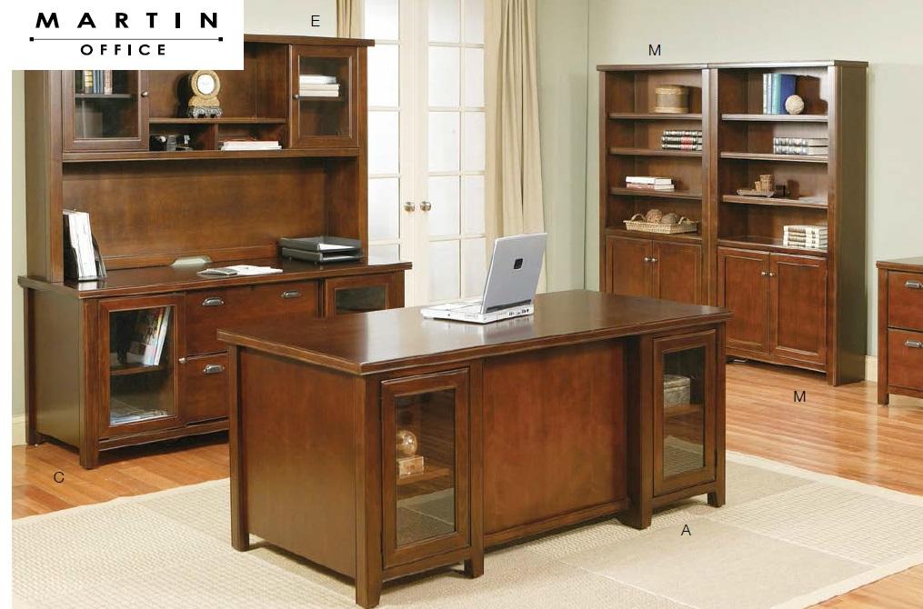 Martin Office Tribeca Loft Series Wood Veneer Executive