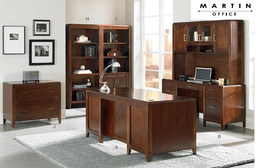 Martin Office Concord Series Wood Veneer Desks Office
