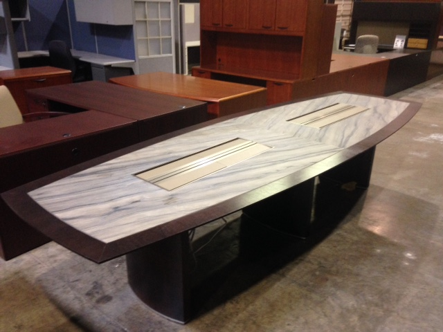Tuohy Custom Made Boat Shape 12 Foot Granite Inlay amp Dark  : IMG13451 from www.officeresourcegroup.com size 640 x 480 jpeg 97kB