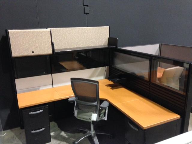 herman miller ethospace hi lo 6 6 cubicle workstations