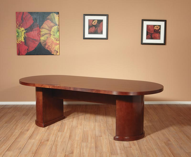 OFD Kent Series Ft Racetrack Top Wood Veneer Conference Table - Espresso conference table