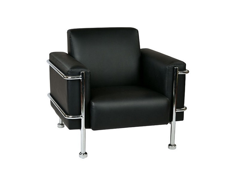 New Ofd Lounge It Black Vinyl 36 5 Wide Club Chair With