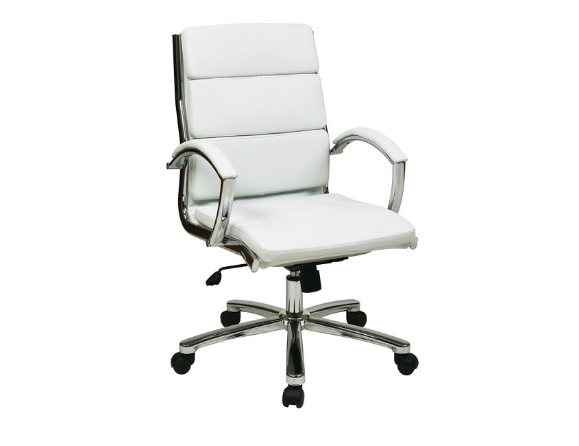 new ofd lounge it white vinyl conference chair with chrome base