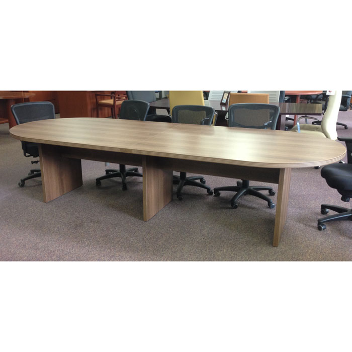 Cherryman amber 12ft racetrack top laminate conference for 12 foot conference room table