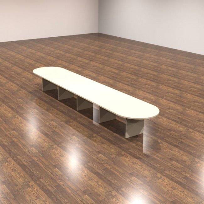 Cherryman Amber Ft Racetrack Top Laminate Conference Table New - 18 ft conference table
