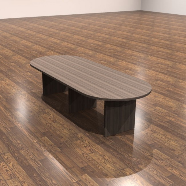 Cherryman Amber 12ft Racetrack Top Laminate Conference