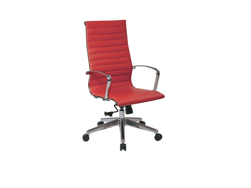ofd 73029lt red vinyl high back conference chair with chrome frame