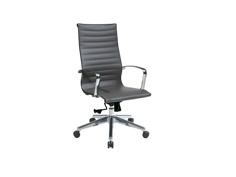 ofd 74602lt gray vinyl high back conference chair with chrome frame