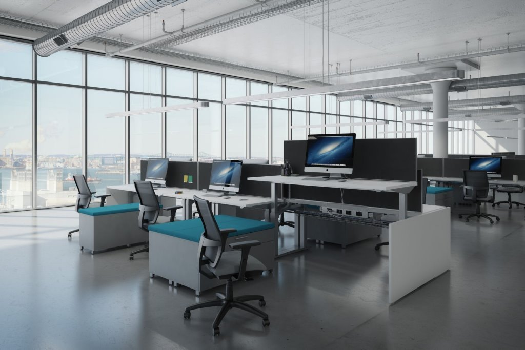 Ais Aloft Height Adjustable Benching Workstations Office