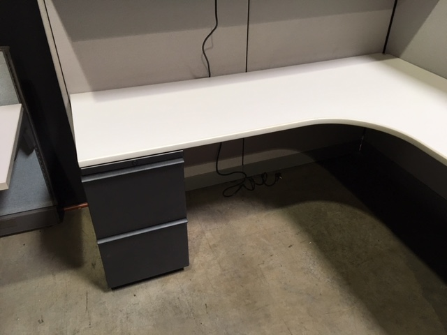 Knoll Morrison 6 215 6 Cubicle Workstations With 2 Pedestals