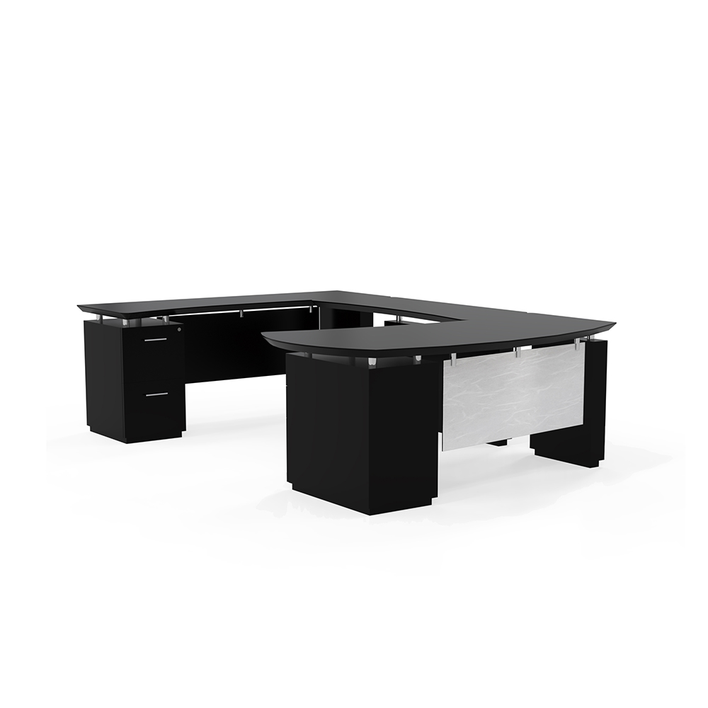 Mayline Sterling U Group Desk With 2 Peds 3 Colors New Office Resource Group