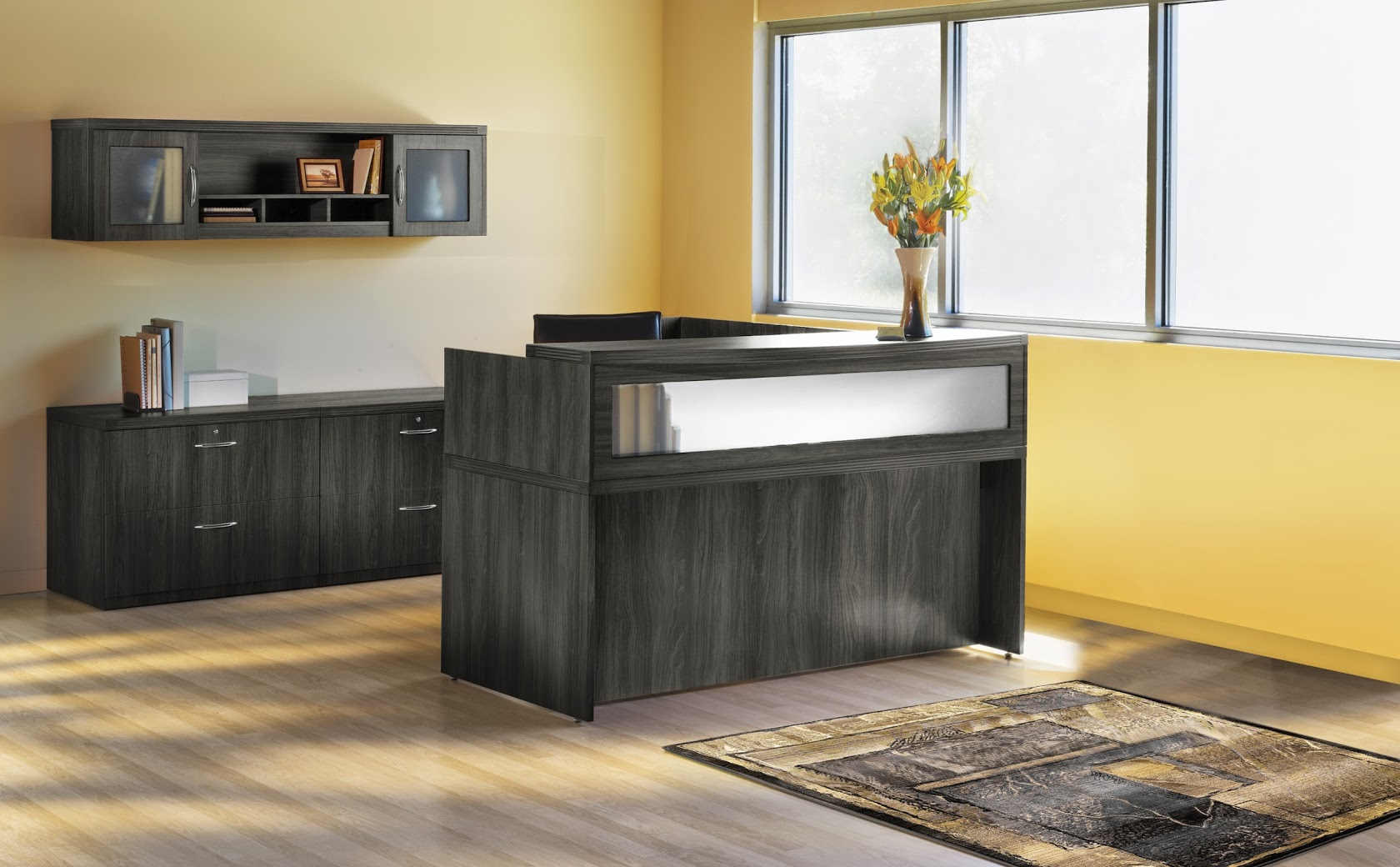 Mayline Aberdeen 72 L Shape Reception Desk Office Suite 4 Colors Available New