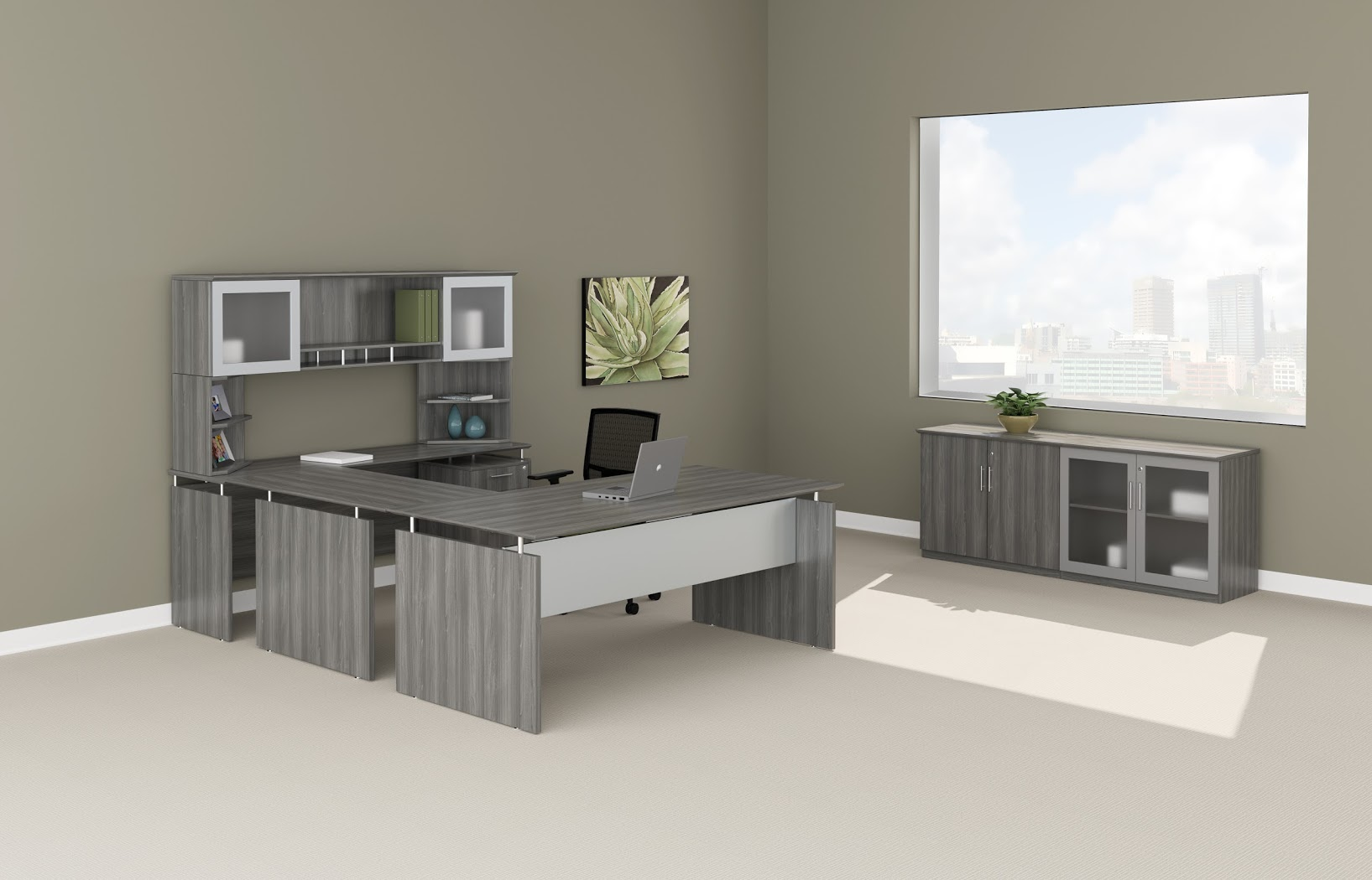 desk in office. Mayline Medina 72\u2033 Executive U Group Desk Office Suite- 5 Colors Available- New! In
