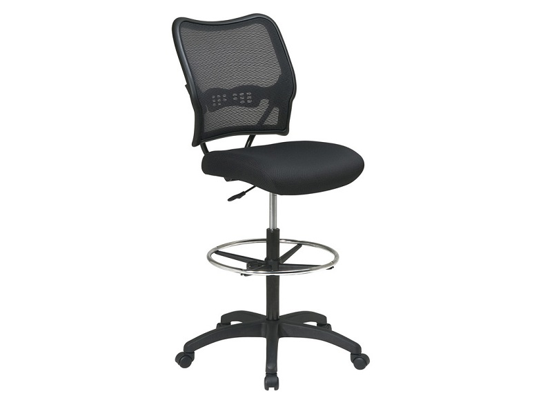 Enjoyable Ofd 13 37N20D Deluxe Air Grid Back Drafting Chair With Black Mesh Seat New Dailytribune Chair Design For Home Dailytribuneorg