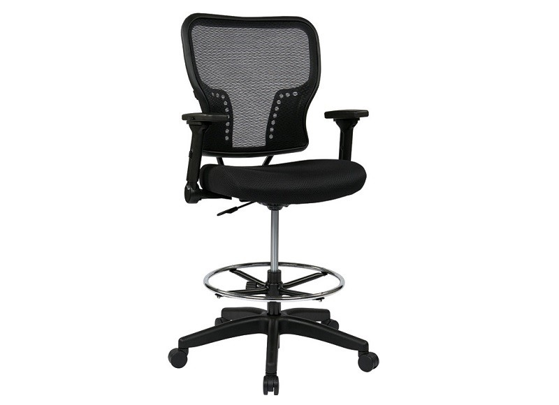 OFD 213 37N2F3D Double AirGrid Drafting Chair With Arms New Office Resour