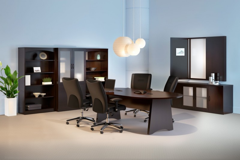 Mayline Brighton 8ft Conference Table Suite With