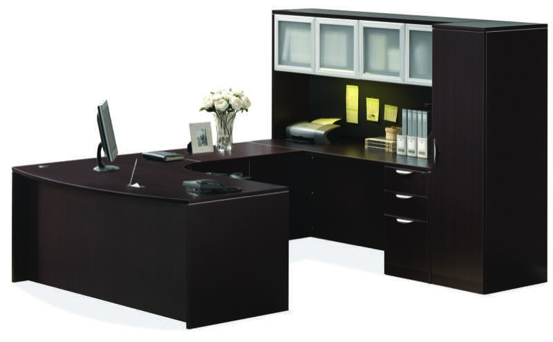 Ndi Pl4 Office Suite 71 Bow Front U Group Desk With