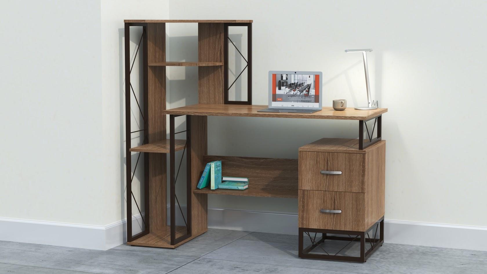 Mayline 52″W SOHO Storage Desk with Box/Box Pedestal and ...