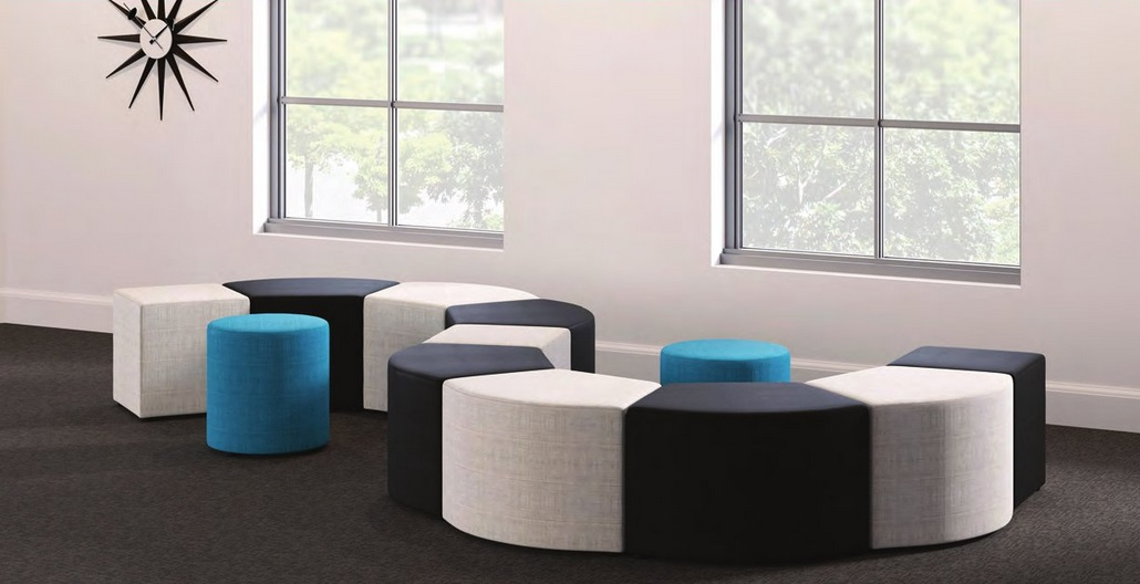 Lorell Collaborative Seating Fabric And Leather Endless