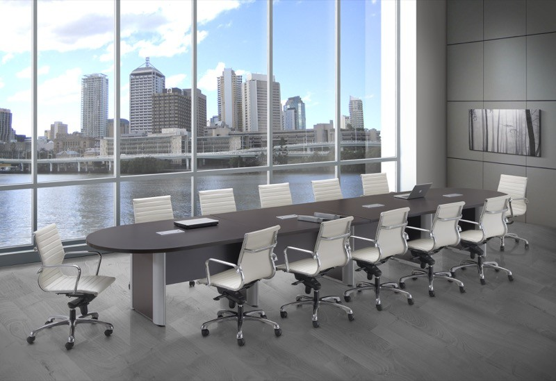 NDI Performance Laminate Ft Racetrack Top Conference Table - Gray conference table