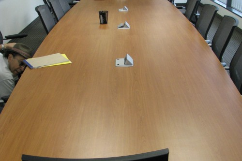 20ft Cherry Conference table
