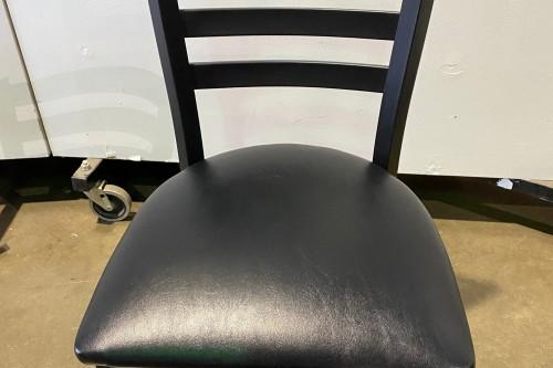 black side chair metal